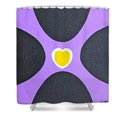 Golden Heart Shower Curtain