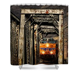 Shower Curtain featuring the photograph Golden Hour Crossing by Ken Smith