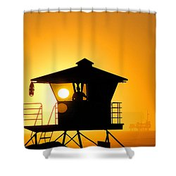 Golden Hour Shower Curtain by Tammy Espino