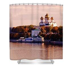Golden Hour. Yaroslavl. Russia Shower Curtain