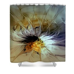 Golden Lily Shower Curtain by Amanda Moore