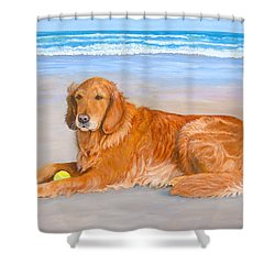 Golden Murphy Shower Curtain