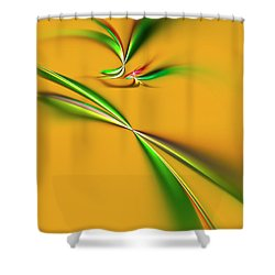 Golden Mystic Shower Curtain by Carolyn Marshall
