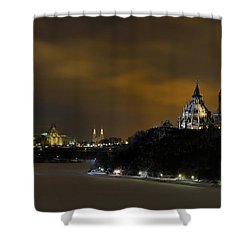 Golden Night... Shower Curtain by Nina Stavlund