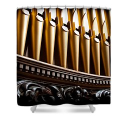 Golden Organ Pipes Shower Curtain