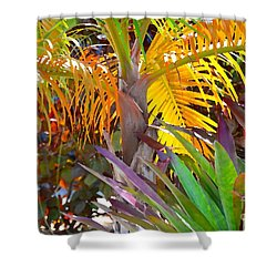 Golden Palm 2 Shower Curtain