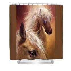 Golden Palomino Shower Curtain by Carol Cavalaris