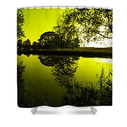 Golden Pond Shower Curtain by Nick Kirby