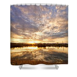 Golden Ponds Scenic Sunset Reflections Shower Curtain by James BO  Insogna