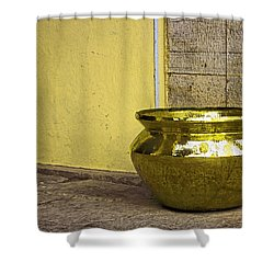 Golden Pot Shower Curtain