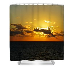 Shower Curtain featuring the photograph Golden Rays Sunset by Jennifer Wheatley Wolf