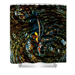 Golden Ripples Shower Curtain