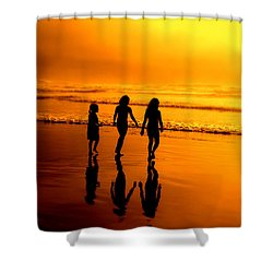 Shower Curtain featuring the photograph Golden Sands  by Micki Findlay