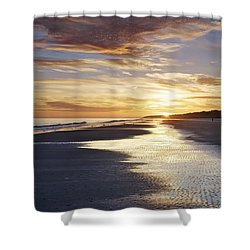 Golden Sands Shower Curtain by Phill Doherty