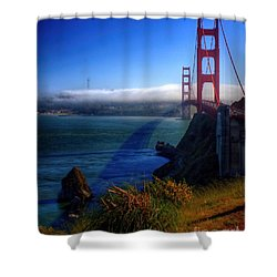 Golden Shadow Shower Curtain by Patrick Witz