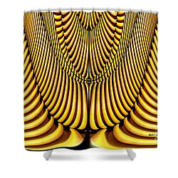 Shower Curtain featuring the painting Golden Slings by Rafael Salazar