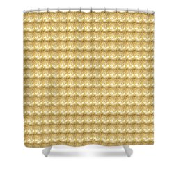 Shower Curtain featuring the photograph Golden Sparkle Tone Pattern Unique Graphic V2 by Navin Joshi