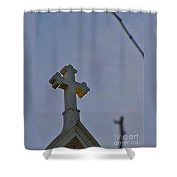 Golden Spirit Shower Curtain
