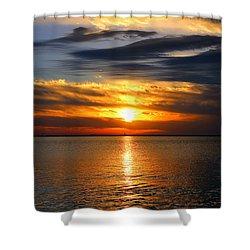 Golden Sun Shower Curtain by Faith Williams