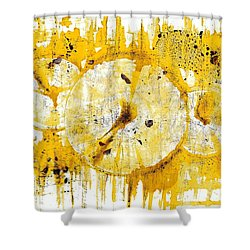 Shower Curtain featuring the painting Golden Sun Rise - 1290.121912 by Kris Haas
