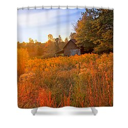 Golden Sunlight On A Fall Morning - North Georgia Shower Curtain by Mark E Tisdale