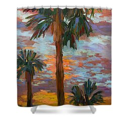 Golden Sunrise Shower Curtain