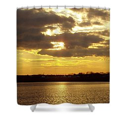Shower Curtain featuring the photograph Golden Sunset by John Telfer