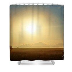 Shower Curtain featuring the photograph Golden Sunset by Judy Palkimas