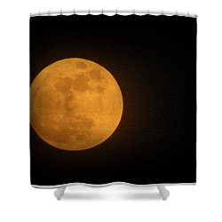 Golden Super Moon Shower Curtain