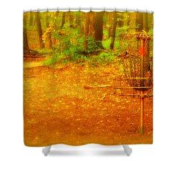 Golden Target Shower Curtain