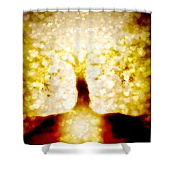 Golden Tree - Center Shower Curtain
