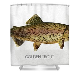 Golden Trout Shower Curtain by Aged Pixel