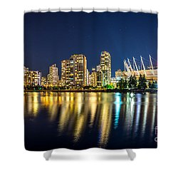 Golden Vancouver - By Sabine Edrissi Shower Curtain