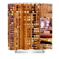 Shower Curtain featuring the photograph Golden Vancouver Cityscape Cdxii By Amyn Nasser by Amyn Nasser