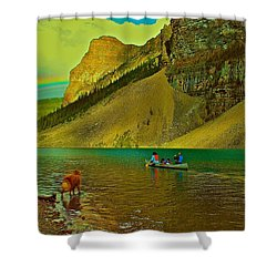 Golden Voyage Shower Curtain by Jim Hogg