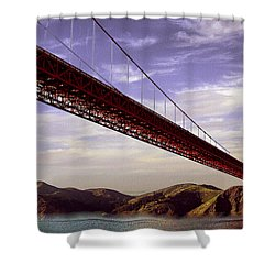Goldengate Bridge San Francisco Shower Curtain by Bob and Nadine Johnston