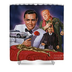 Goldfinger Shower Curtain