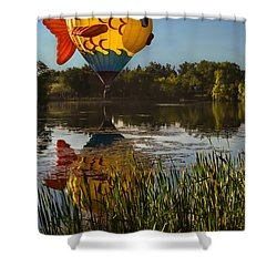 Goldfish Reflection Shower Curtain