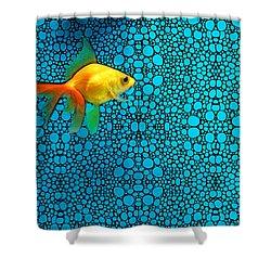 Goldfish Study 3 - Stone Rock'd Art By Sharon Cummings Shower Curtain