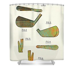 Golf Club Patent-1989 Shower Curtain