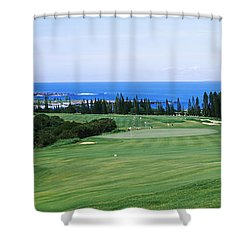 Golf Course At The Oceanside, Kapalua Shower Curtain