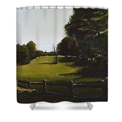 Golf Course In Duxbury Ma Shower Curtain by Diane Strain