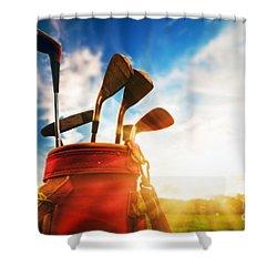 Golf Equipment  Shower Curtain by Michal Bednarek