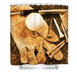 Golf Memorabilia Shower Curtain