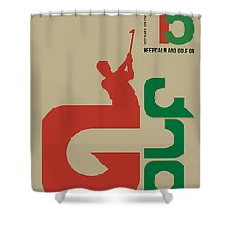Golf Poster Shower Curtain