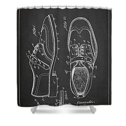 Golf Shoe Patent Drawing From 1927 Shower Curtain by Aged Pixel