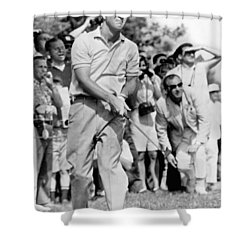 Golfer Arnold Palmer Shower Curtain by Underwood Archives