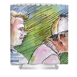 Golfers In Soufflenheim 01 Shower Curtain by Miki De Goodaboom