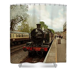 Goliath The Engine And Anna Shower Curtain by Terri Waters