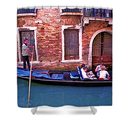 Shower Curtain featuring the photograph Gondola 4 by Allen Beatty